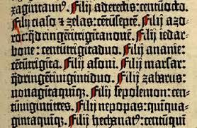 Gothic Blackletter Typeface from Gutenburg's Bible