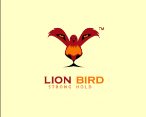 This unique logo by Nashifan is intended to be an energetic business logo, exemplifying the strength of the business with the lion face and showing the business at its zenith through the bird.