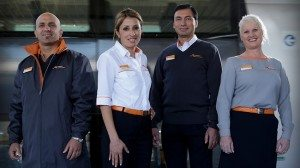 Sydney's new CityRail staff uniforms, unveiled in April 2013.