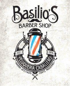 Barber Shop Crest Logo