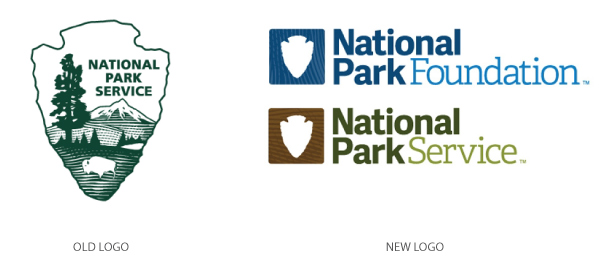National Park Logos Old/New
