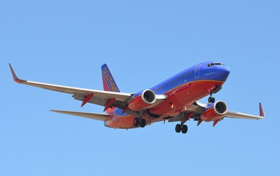 This is a Southwest Airlines plane.  Notice the differences?
